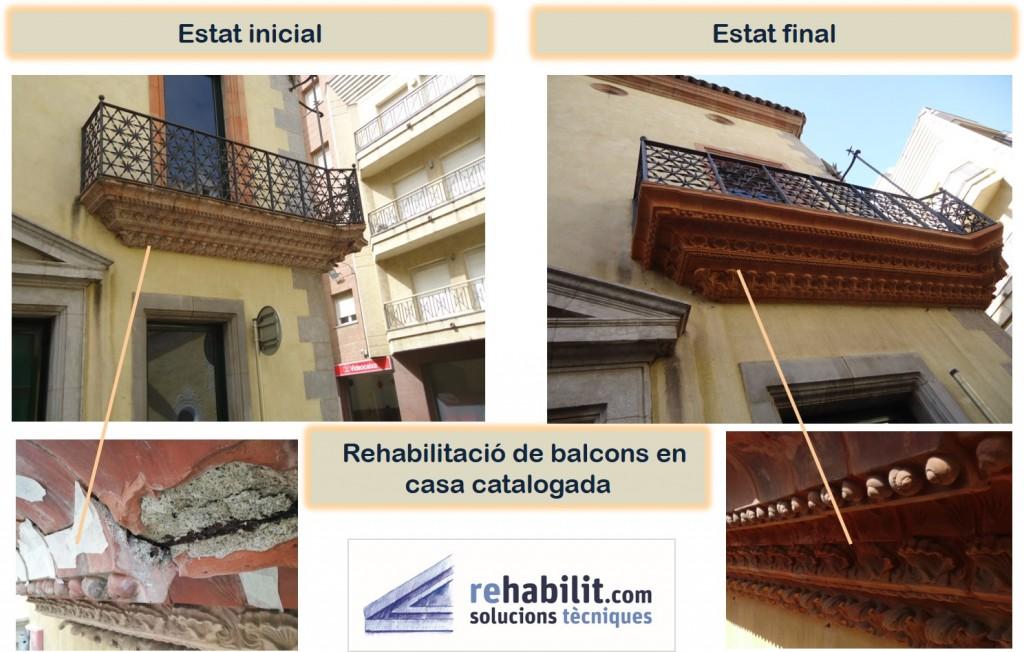 Restauració patologies balcó _ Restauració patrimoni